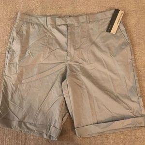 Perry Ellis Mens Flat Front Shorts Sz 38 NEW